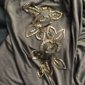 Jennifer Lopez Gold Beaded Embroidery Green Shirt